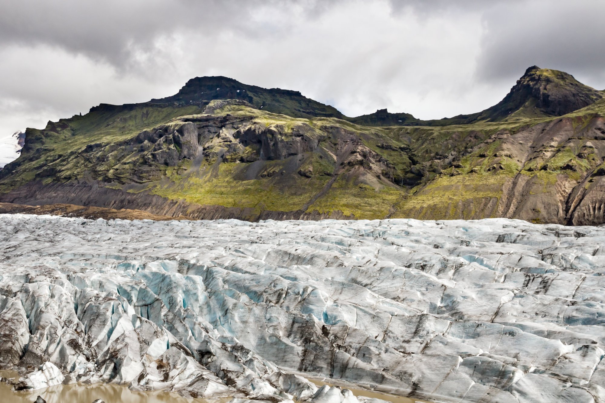 Glacier Svinafellsjökull, Islande